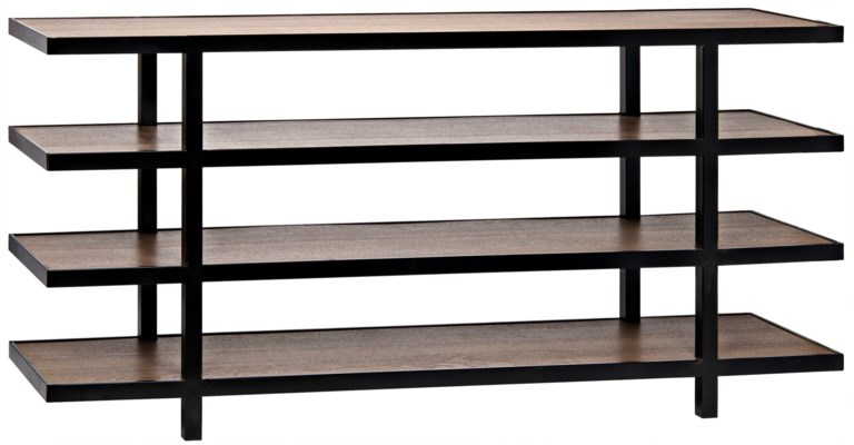 Sima Shelving Unit, Dark Walnut