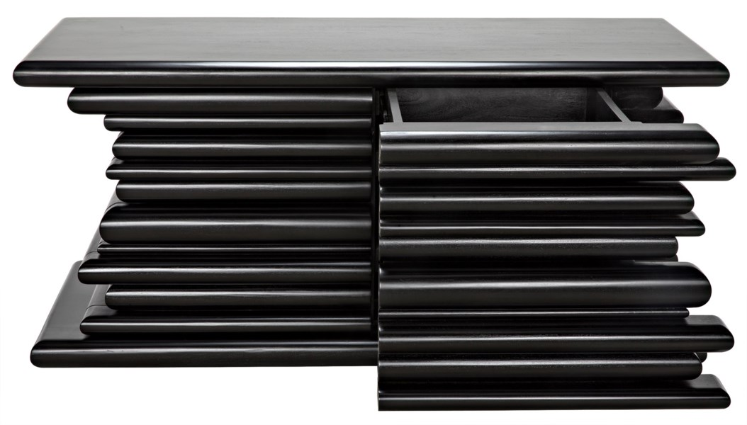 Kaiser Sideboard with 4 Drawers, Hand Rubbed Black