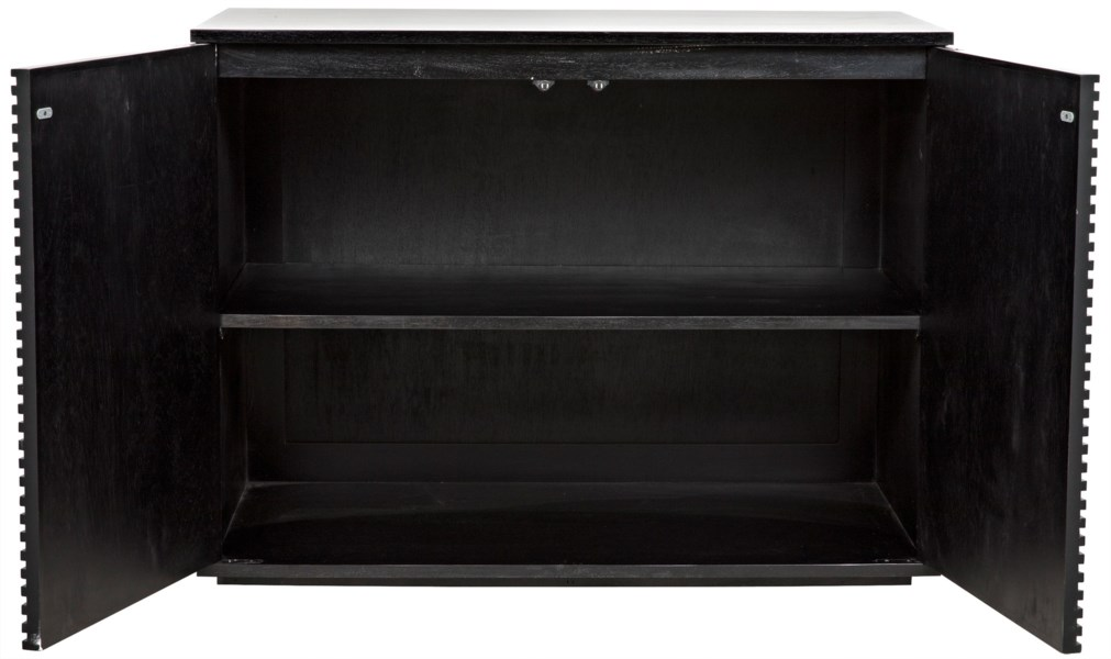 Smith 2 Door Sideboard, Hand Rubbed Black