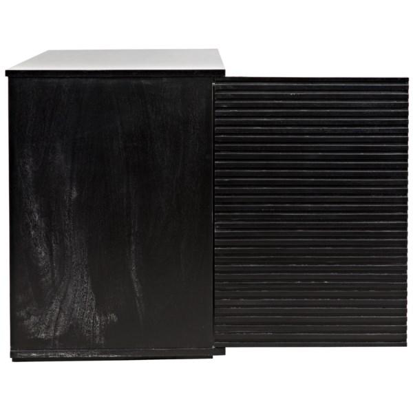 Smith 2 Door Sideboard, Hand Rubbed Black