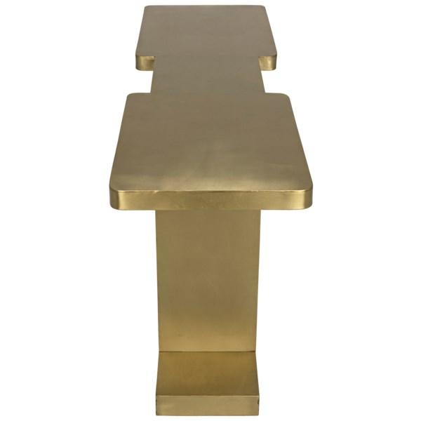 I Console, Antique Brass