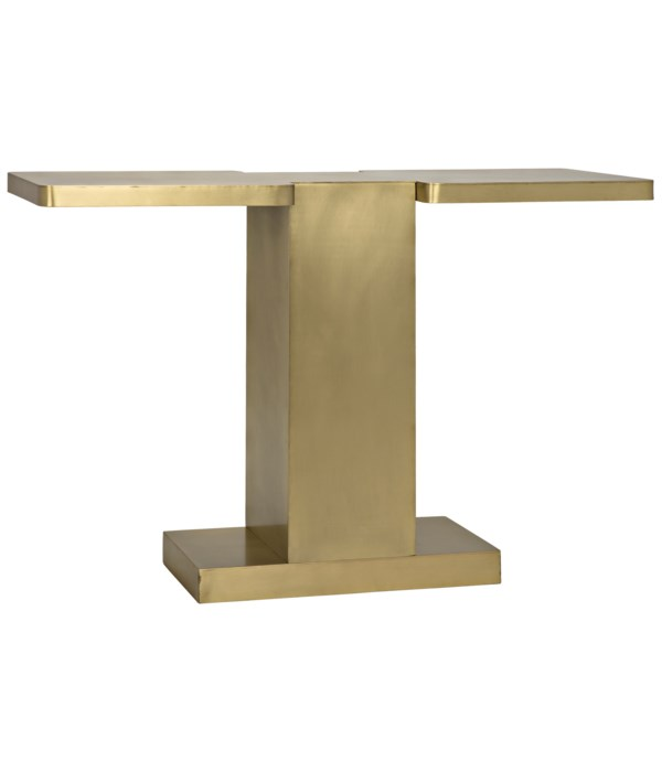I Console, Metal with Brass Finish