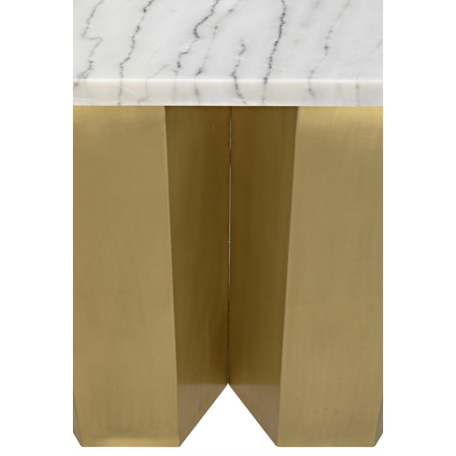 Shilo Console, Metal and White Stone