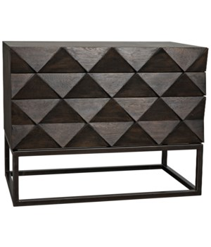 Draco Sideboard w/Metal Stand, Ebony Walnut