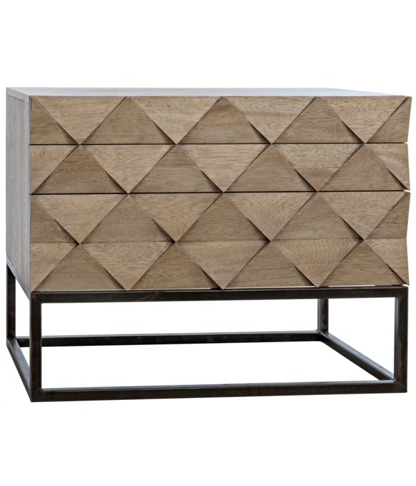 Draco Sideboard with Steel Stand, Washed Walnut