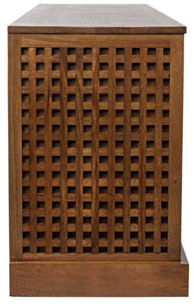 Genti 4Door Sideboard, Dark Walnut