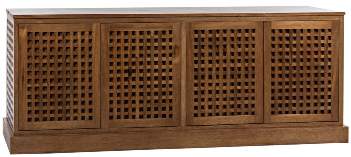 Genti 4Door Sideboard, Dark Walnut