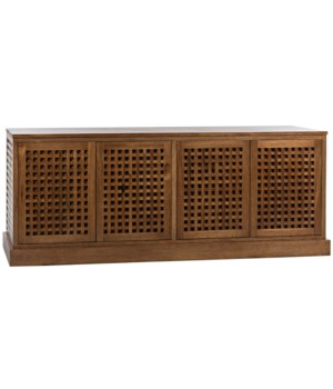 Genti 4 Door Sideboard, Dark Walnut