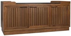 Spago Sideboard with Stone Top, Dark Walnut