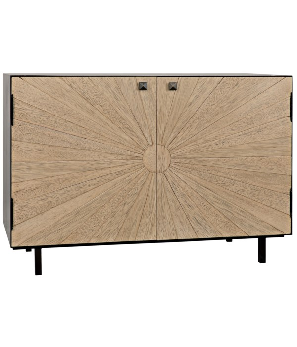 Ray Sideboard with Steel Box, Bleached Walnut
