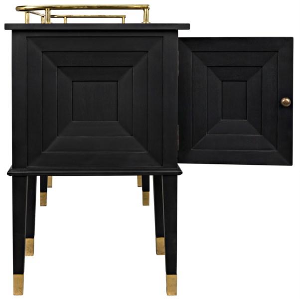 Conveni Sideboard w/Brass Detail, Charcoal