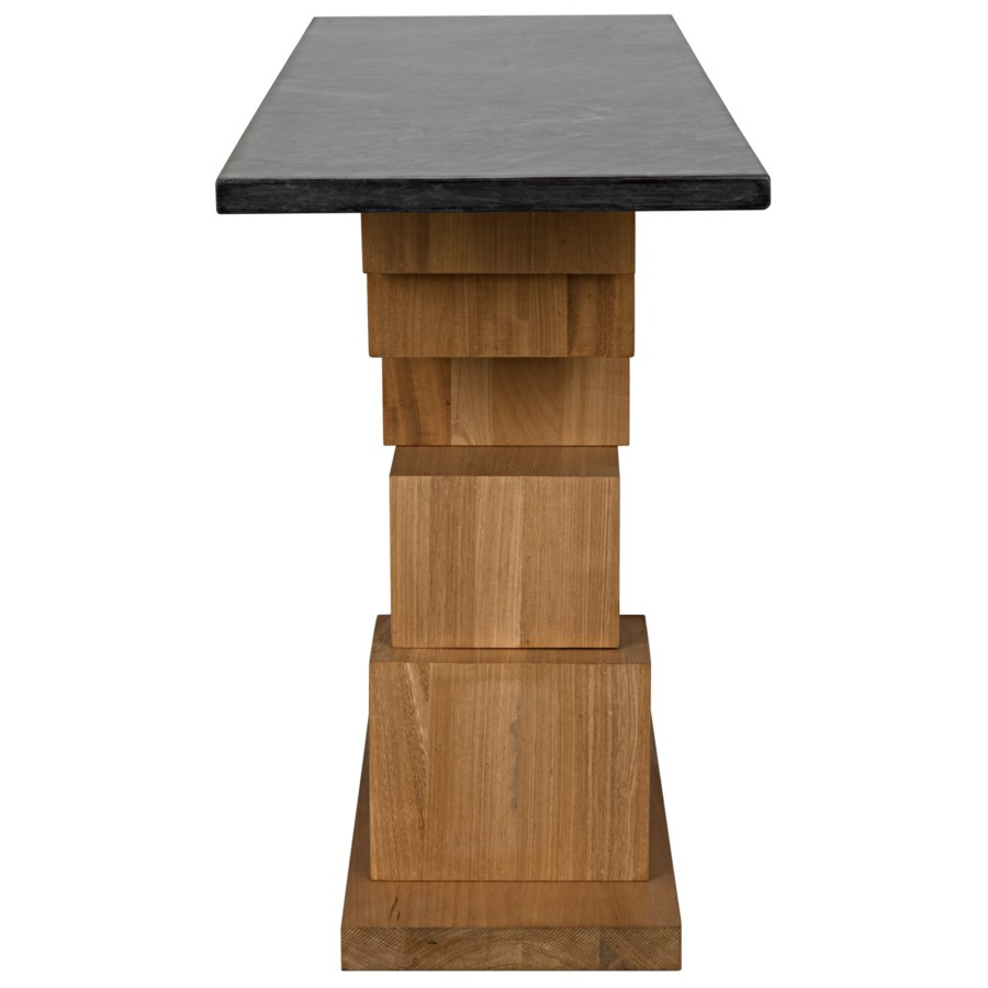 Balin Console, Dark Walnut/Stone