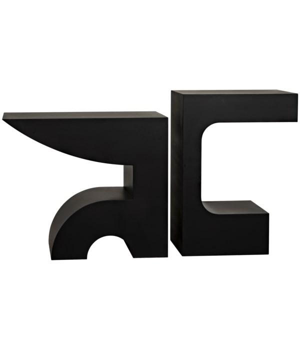 Shiba Console, Black Steel