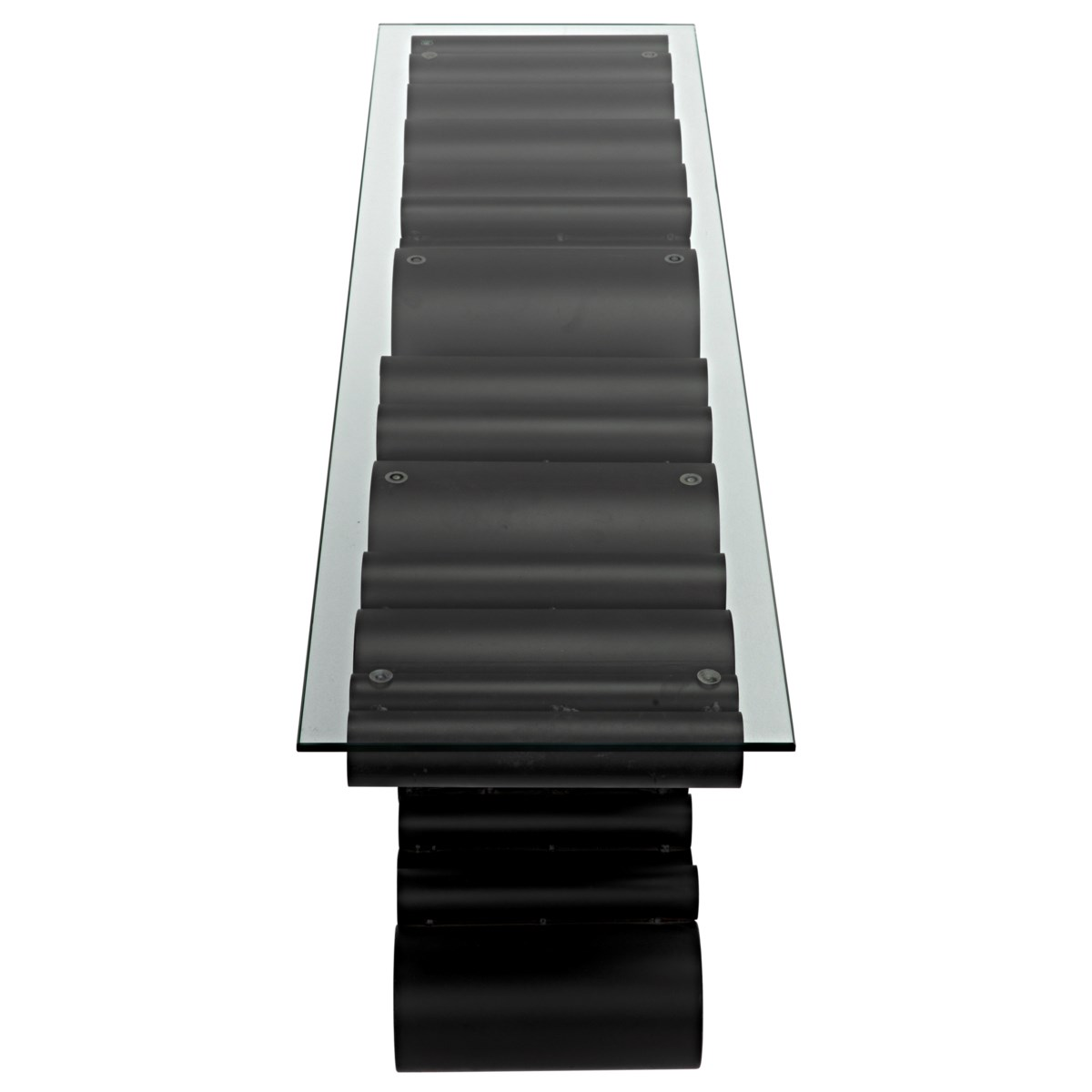 Paradox Console, Black Metal w/Glass Top