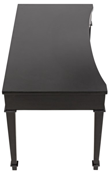 Curba Desk, Hand Rubbed Black