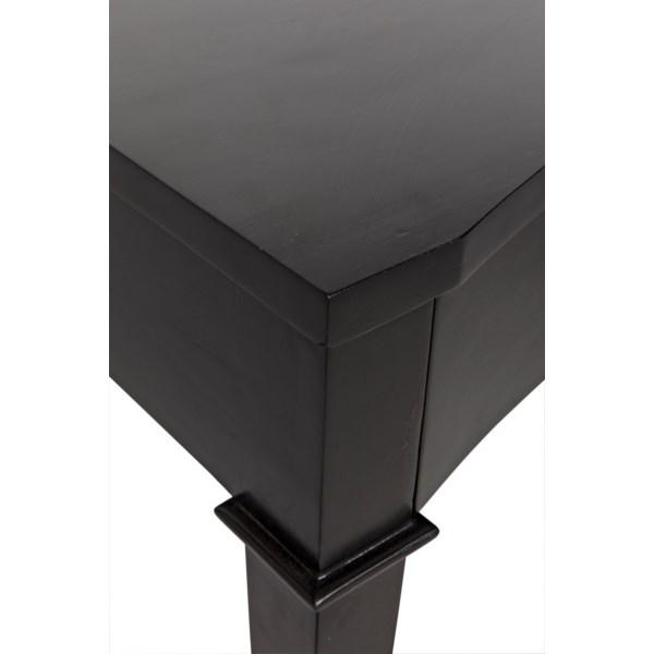 Curba Desk, Hand Rubbed Black