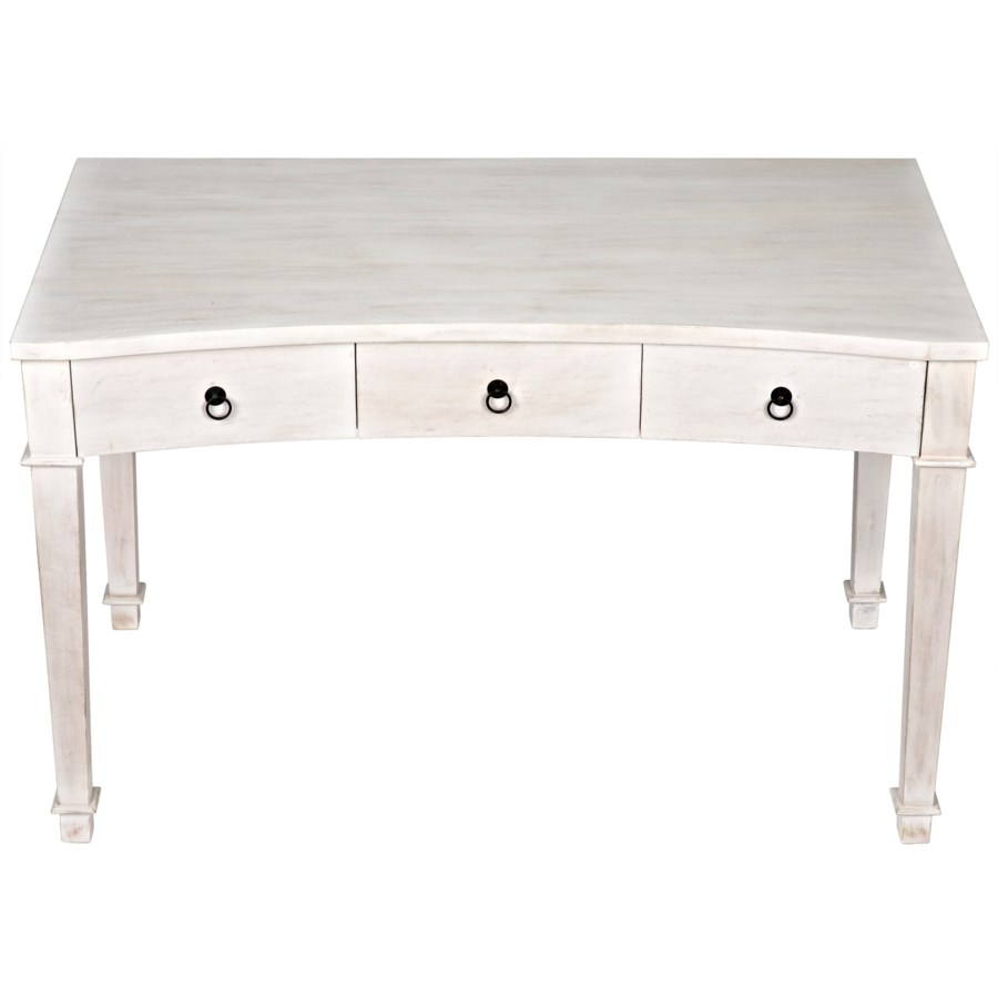 Curba Desk, White Wash
