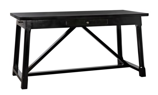 Sutton Desk, Distressed Black