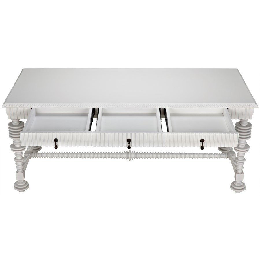 Portuguese Desk, Solid White