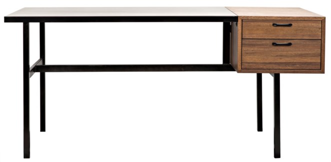 Algeron Desk, Metal and Walnut