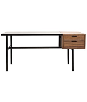 Algeron Desk with Black Metal
