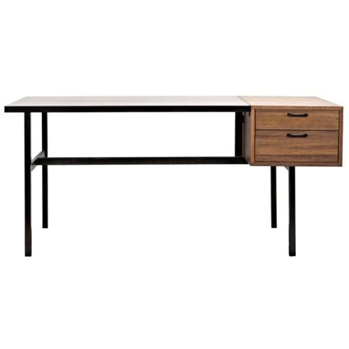 Algeron Desk with Black Metal