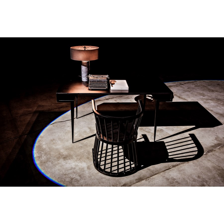 Stiletto Desk, Black Metal