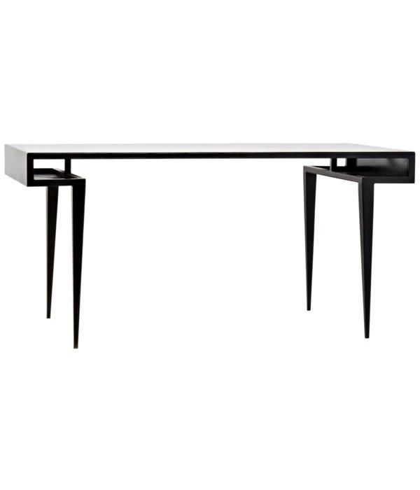 Stiletto Desk, Black Steel
