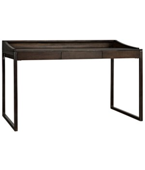 Ling Desk, Ebony Walnut w/Metal