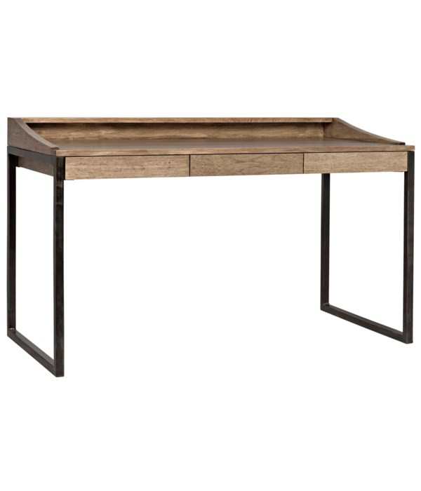 Ling Desk, Washed Walnut with Steel