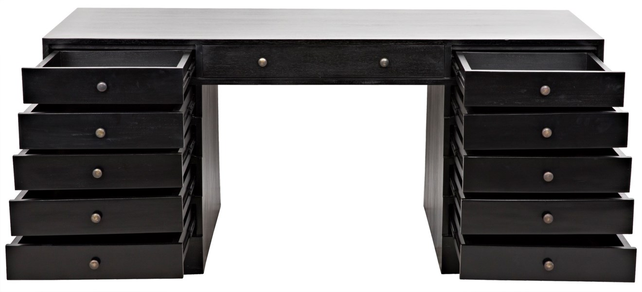 Faust Desk, Hand Rubbed Black