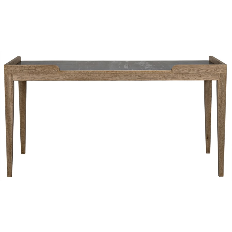 Wod Ward Desk, Bleached Walnut with Stone Top