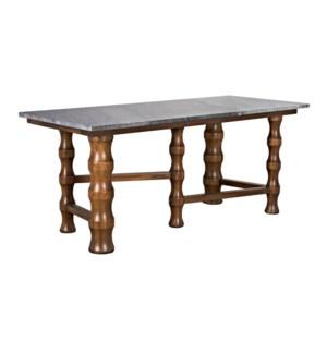 Creo Desk with Stone Top, Dark Walnut