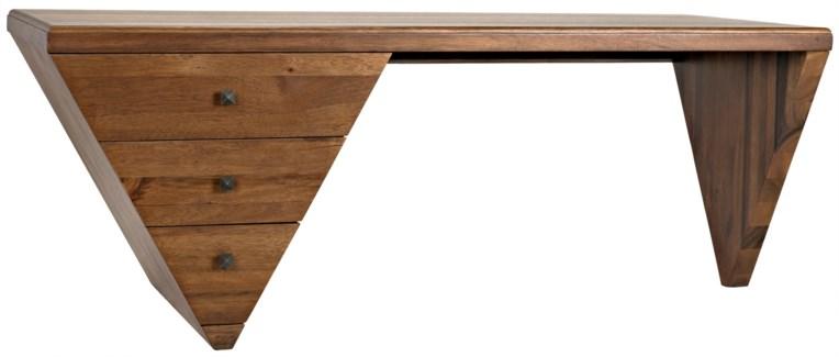 Tetramo Desk, Dark Walnut