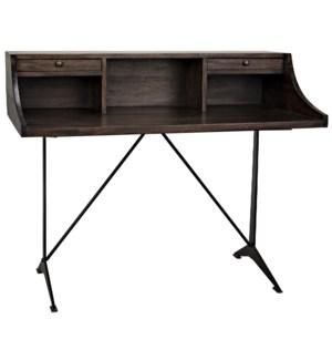 Croft Desk with Steel, Ebony Walnut
