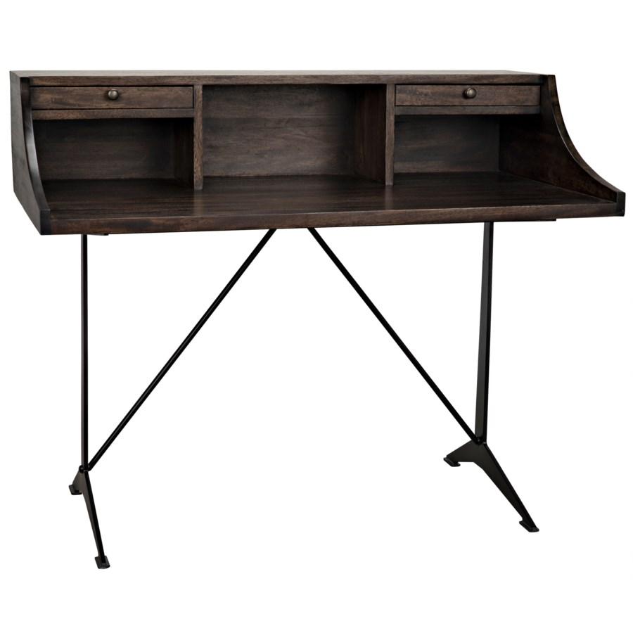 Croft Desk w/Metal, Ebony Walnut