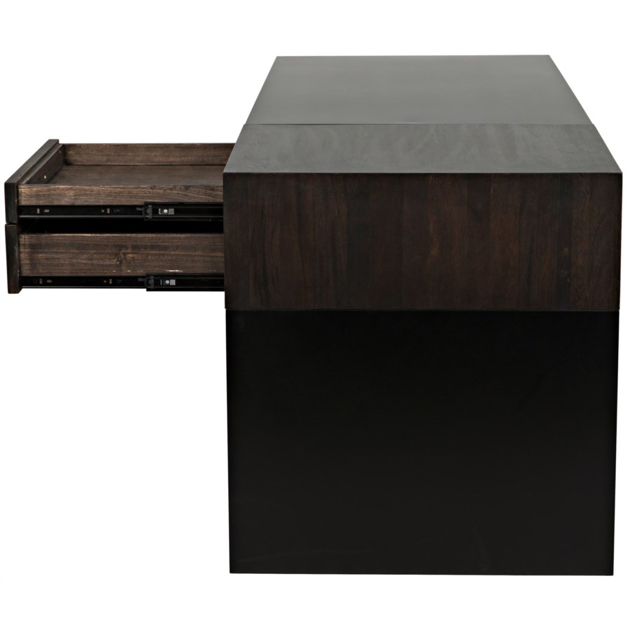 Alvaro Desk, Black Metal/Ebony Walnut