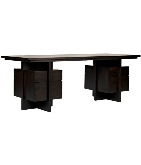Bridge Desk, Ebony Walnut