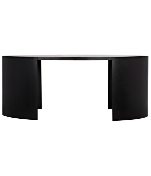 Marigold Desk, Ebony Walnut with Black Steel