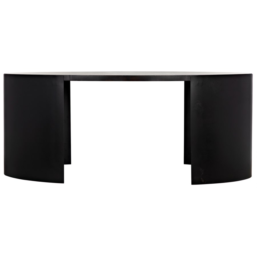 Marigold Desk, Ebony Walnut w/Black Metal