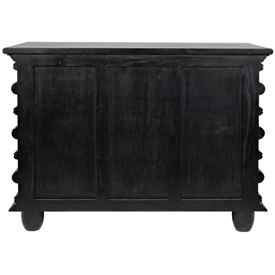 Ascona Small Chest, Hand Rubbed Black