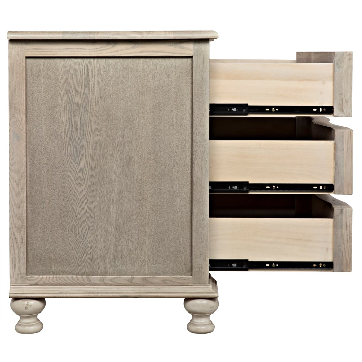 Curved Front 3 Drawer Chest