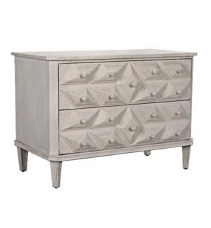 Giza Dresser, White Weathered