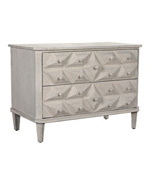 Giza Dresser, White Weathered