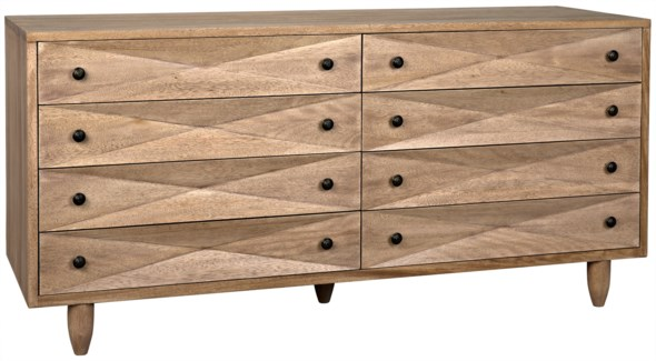 Diamond Double Chest, Washed Walnut