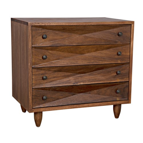 Diamond Chest, Dark Walnut