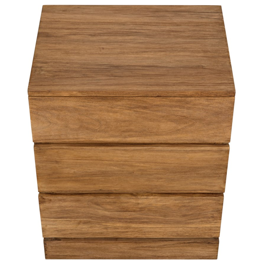 Monolith Dresser, Distressed Teak