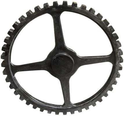Small Gear, Hand Rubbed Black