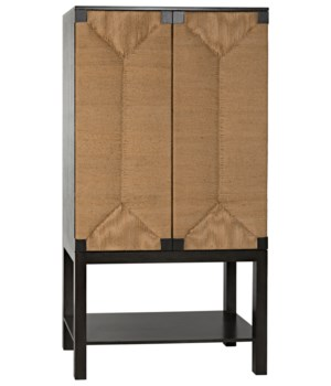 Kira Cabinet With Loom Panel, Pale