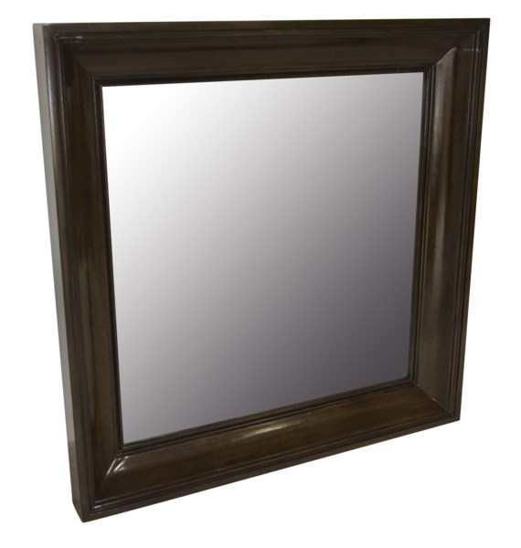 Colonial Square Mirror, Distressed Brown
